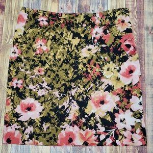 J.Jill floral skirt size 10 petite